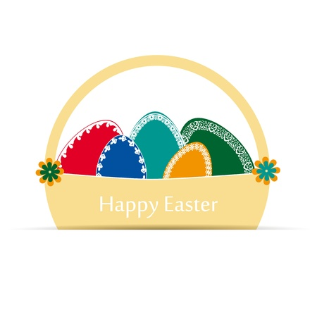 Abstract easter card with many colorful eggs Stock Vector - 17223074