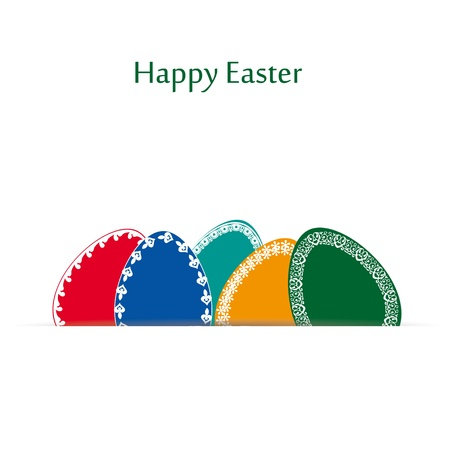 Abstract easter card with many colorful eggs  Vector