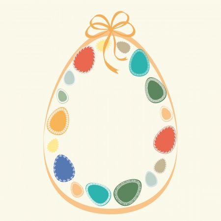 Abstract easter card with many colorful eggs Stock Vector - 17223079