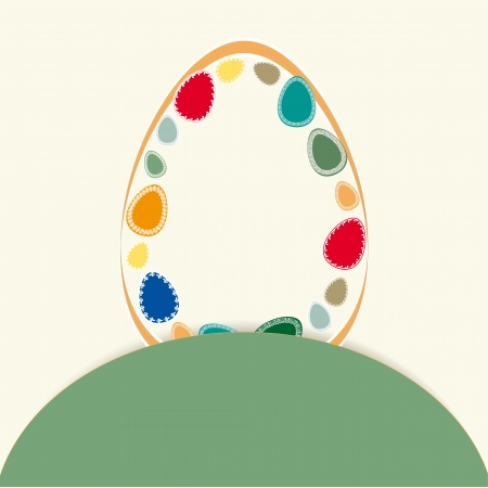 Abstract easter card with many colorful eggs Stock Vector - 17223083