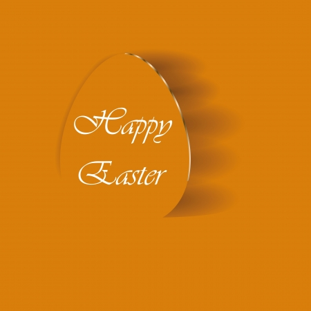 Creative and abstract cute card with eggs Vector