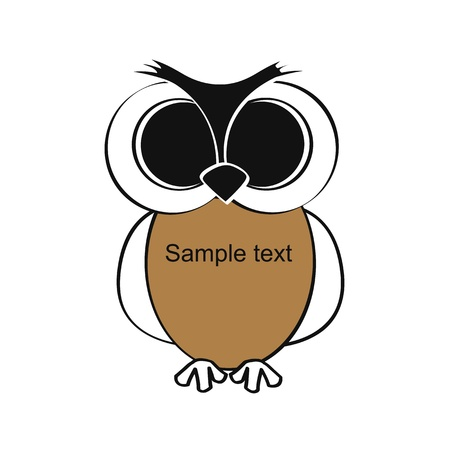 Cute and simple kids frame show owl Vector