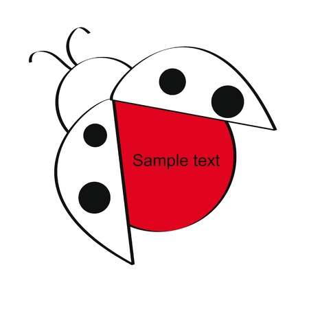 Cute and simple kids frame show ladybug Stock Vector - 18389703