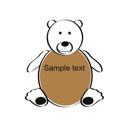 Cute and simple kids frame show teddy bear Stock Vector - 18389709