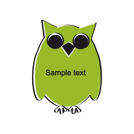 Cute and simple kids frame show owl Stock Vector - 18389712