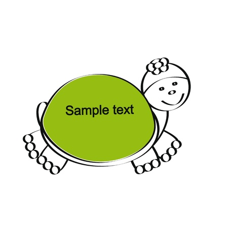 Cute and simple kids frame show tortoise Stock Vector - 18389723