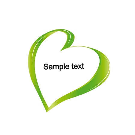 Cute and simple and green heart frame Stock Vector - 18389711