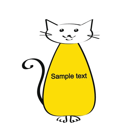 Cute and simple kids frame show cat Stock Vector - 18389716