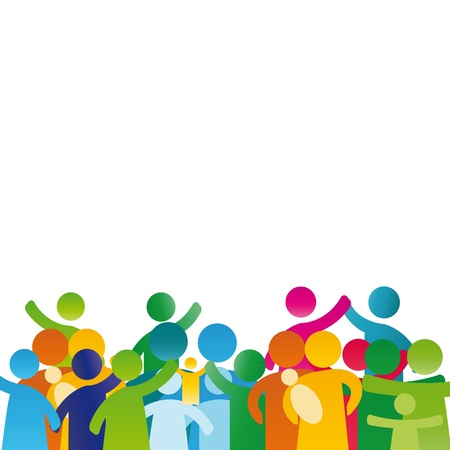 pictogramme: Arri�re-plan avec pictogramme montrant chiffres famille heureuse