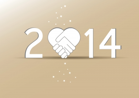 Cute and simple card on New Year 2014 Stock Vector - 21316903