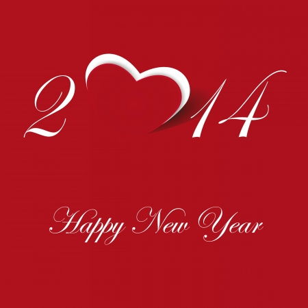 Cute and simple card on New Year 2014 Stock Vector - 21316906