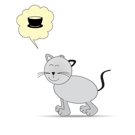 grey cat: Cute and happy cat in color grey