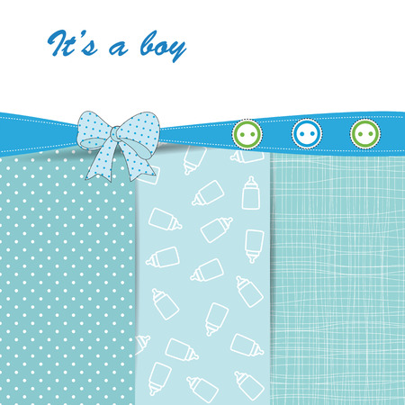 baby background: Baby card Illustration