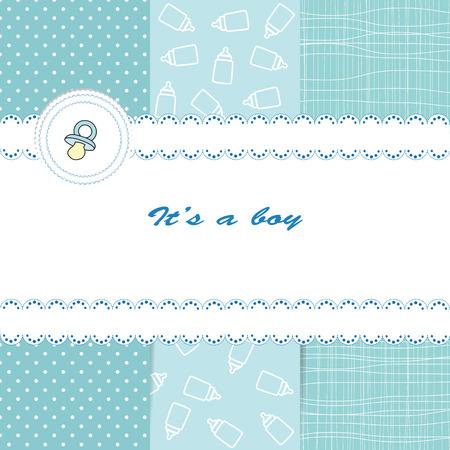 Bebé tarjeta Foto de archivo - 23313734