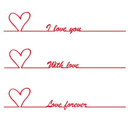 longing: Valentine I love you vector stylish text