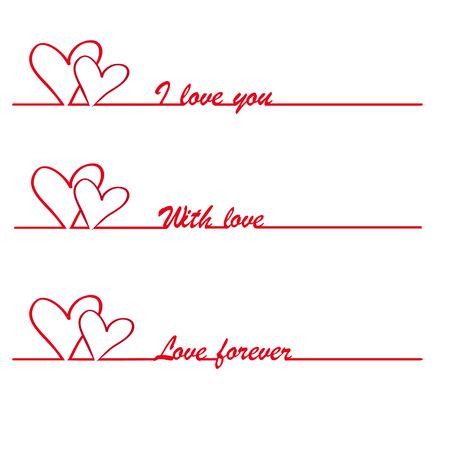 Valentine I love you vector stylish text  Vector