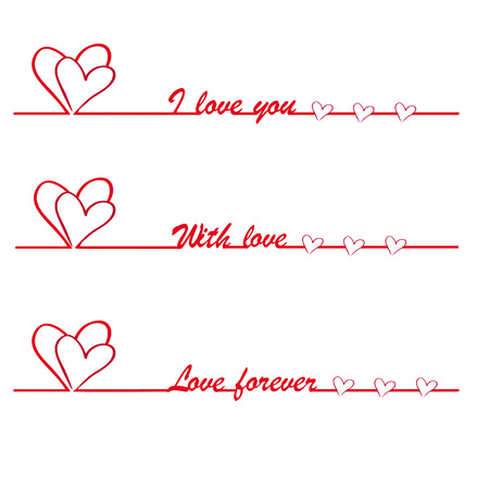 Valentine I love you vector stylish text