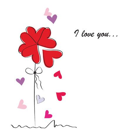 Valentines card 向量圖像