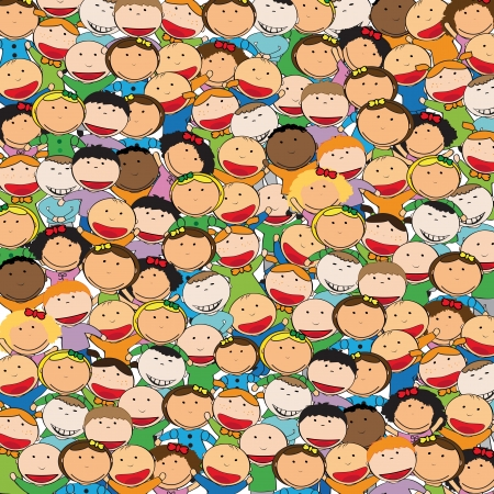sings: Kids background Illustration
