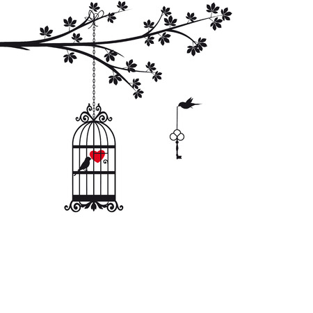 Kaart op Valentijnsdag Stock Illustratie