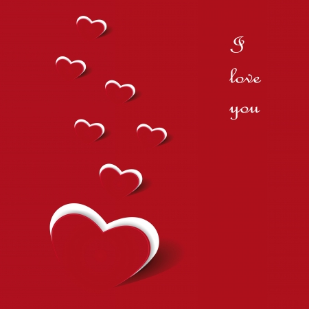 Card on Valentine s day Vector