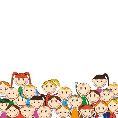 enfant qui sourit: Les petites et sourire les gar�ons et les filles