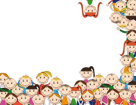 escuelas: Ni�os y ni�as peque�os y sonre�r