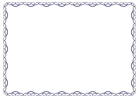 frame for certificates, diplomas, contracts etc Illustration
