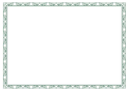 calligraph: frame for certificates, diplomas, contracts etc Illustration