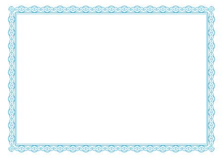 Netter Rahmen für Zertifikate, Diplome, Verträge etc Standard-Bild - 26049684