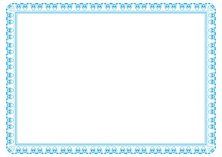 ornament menu: frame for certificates, diplomas, contracts etc Illustration