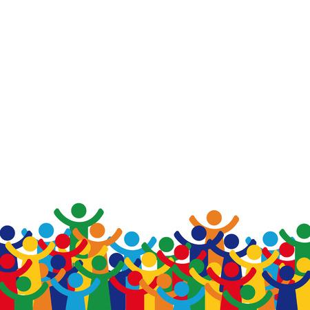 solidaridad: pictograma cifras Familia feliz