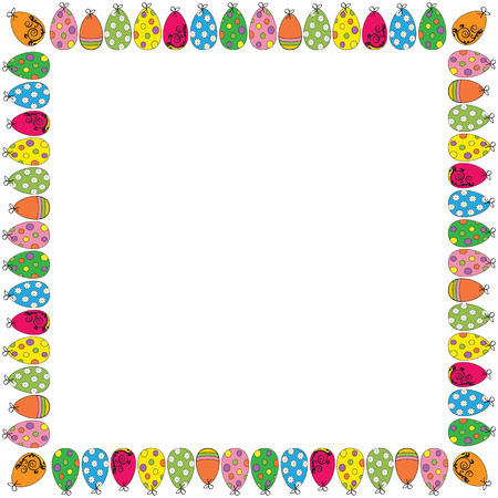Easter cute and colorful frame with many eggs Stock Vector - 26066157