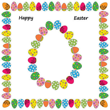 Easter cute and colorful card with many eggs Stock Vector - 26066166
