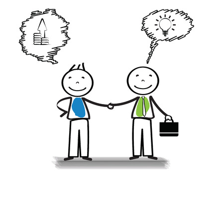 meet up: Business meeting of two important persons Illustration