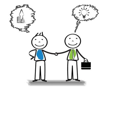 conversaciones: Reunión de negocios de dos personas importantes