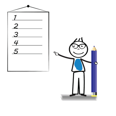 Businessman with blank space for to do list Vector