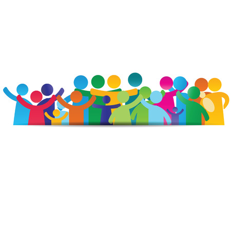 Background pictograms showing figures happy family Illustration