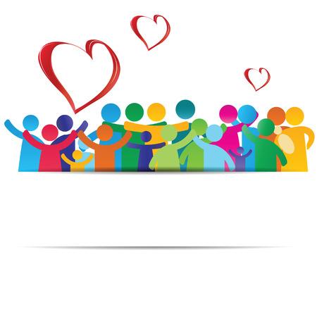 数字の幸せな家族を示す背景ピクトグラム 写真素材 - 26608329