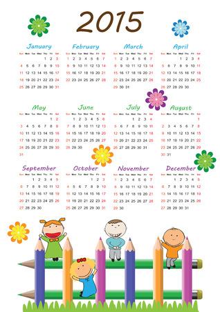 calendario septiembre: Calander lindo en 2015 a�o con ni�os felices