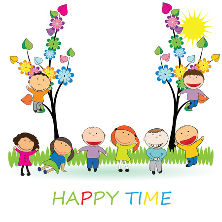 Happy time Vector