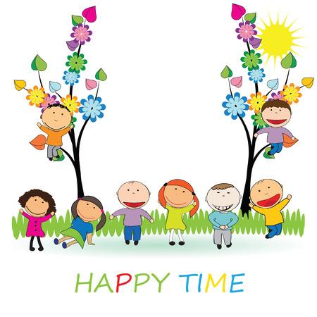 Happy time Vector