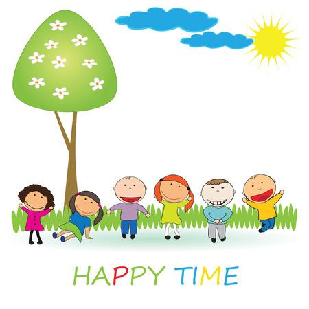 niño preescolar: Tiempo feliz