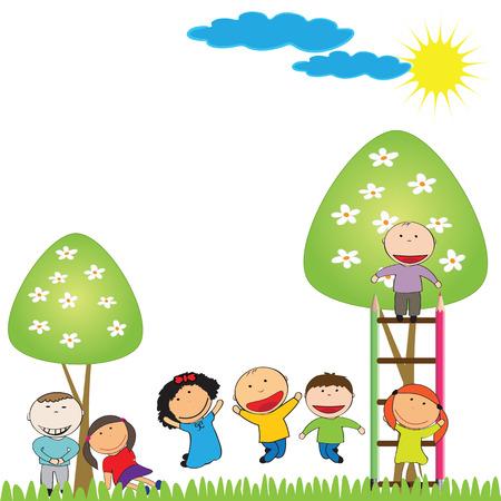 nursery school: Happy time