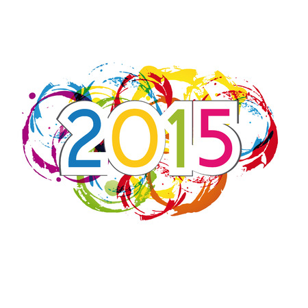Cute and colorful card on New Year 2015 Illustration