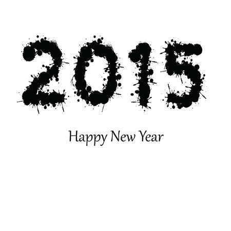 Cute and abstract card on New Year 2015