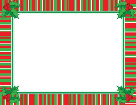 rayas de colores: Marco lindo de Navidad en color rojo y verde