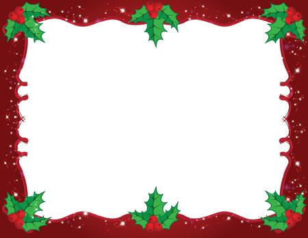 Nette Weihnachtsrahmen in rot und grün