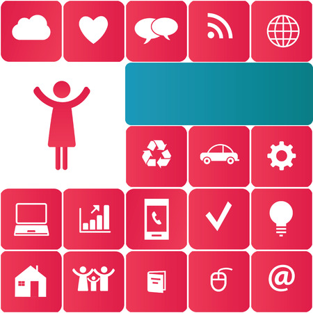 Abstract background presented as icons social network