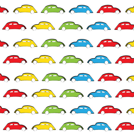 Cute kids background with colorful cars